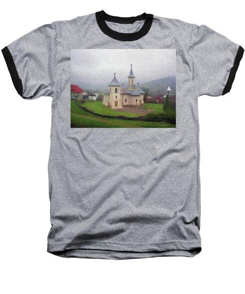 Church In The Mist Baseball T-Shirt