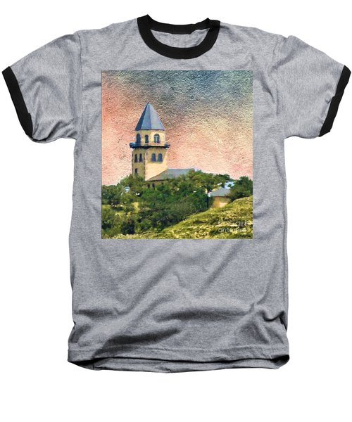 Church On Hill Baseball T-Shirt by Janette Boyd