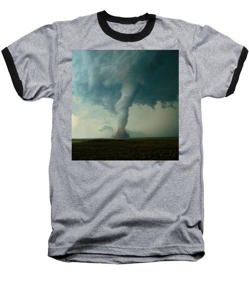 Churning Twister Baseball T-Shirt by Ed Sweeney