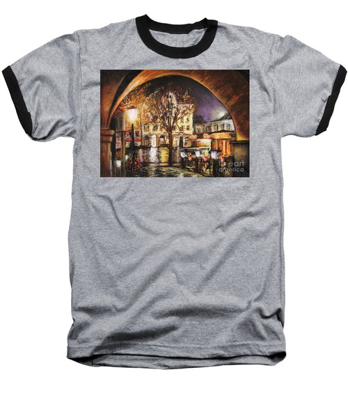 Cieszyn At Night Baseball T-Shirt
