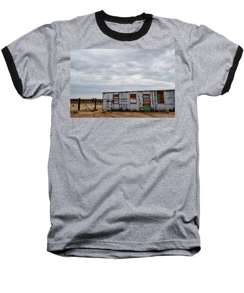 Cima Union Pacific Railroad Station Baseball T-Shirt