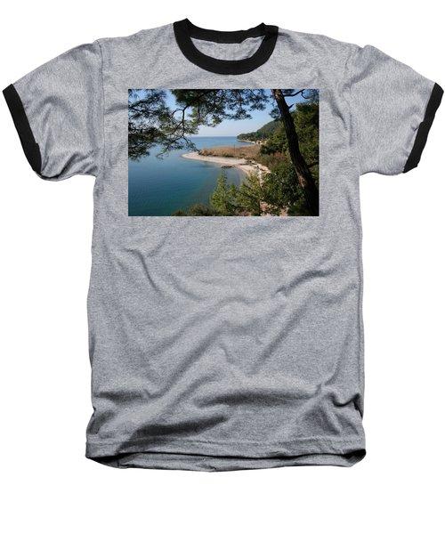 Baseball T-Shirt featuring the photograph Cinar Beach by Tracey Harrington-Simpson