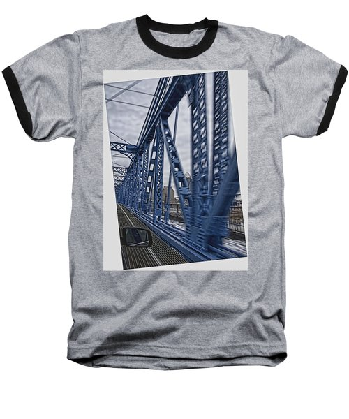 Cincinnati Bridge Baseball T-Shirt by Daniel Sheldon