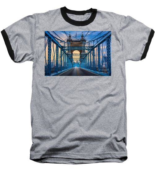 Cincinnati Suspension Bridge Baseball T-Shirt