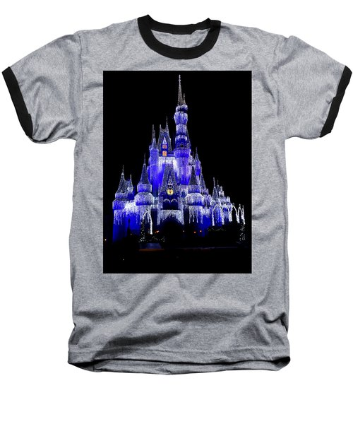 Baseball T-Shirt featuring the photograph Cinderella's Castle by Laurie Perry
