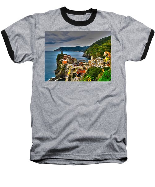 Cinque Terra Baseball T-Shirt by David Gleeson