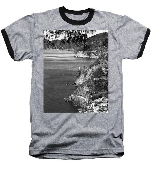 Cinque Terre Coastline Baseball T-Shirt