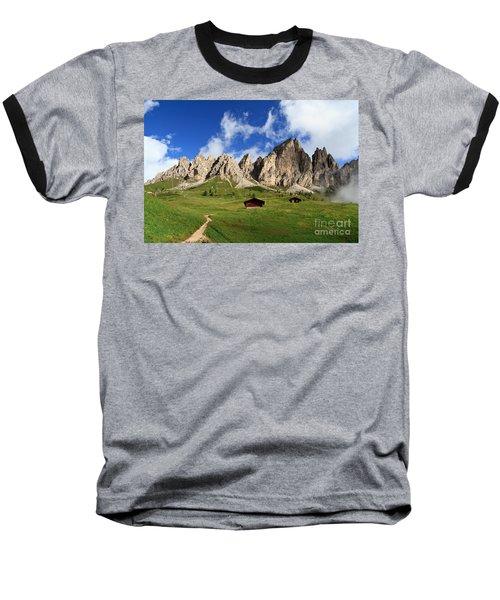 Baseball T-Shirt featuring the photograph Cir Group - Gardena Pass by Antonio Scarpi