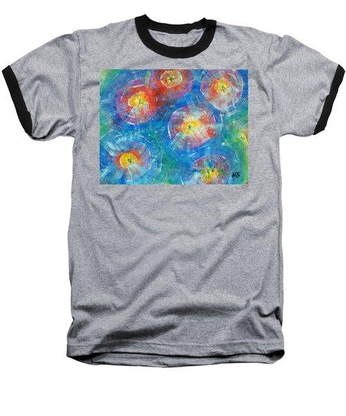Circle Burst Baseball T-Shirt