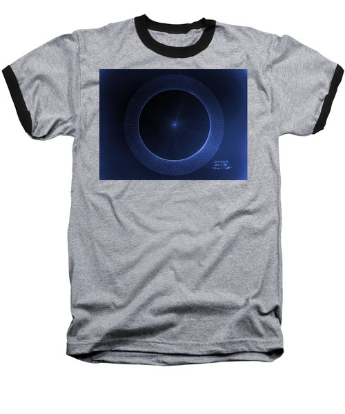Baseball T-Shirt featuring the drawing Circles Don't Exist Pi 180 by Jason Padgett