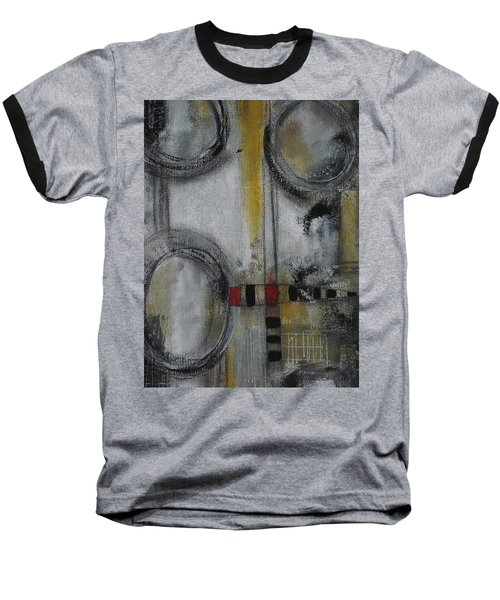 Baseball T-Shirt featuring the painting Circles Of Life by Nicole Nadeau