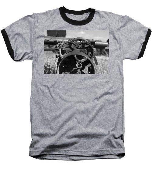 Circular Circus Baseball T-Shirt by Rebecca Davis