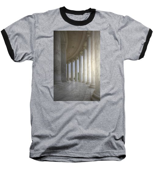 Circular Colonnade Of The Thomas Jefferson Memorial Baseball T-Shirt by Shelley Neff