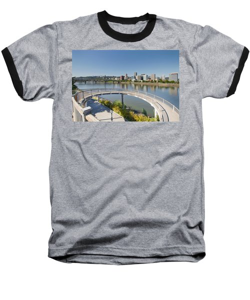 Baseball T-Shirt featuring the photograph Circular Walkway On Portland Eastbank Esplanade by JPLDesigns