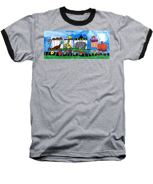 Circus Train Baseball T-Shirt