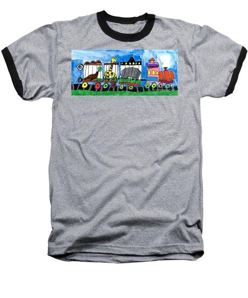 Circus Train Baseball T-Shirt