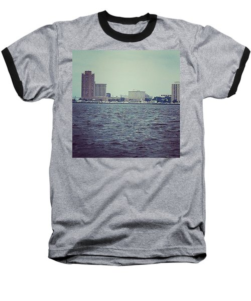 City Across The Sea Baseball T-Shirt by Thomasina Durkay