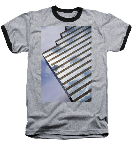 City Cloudscape Baseball T-Shirt