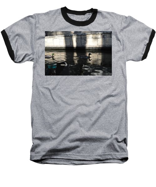 Baseball T-Shirt featuring the photograph City Ducks by Shawn Marlow