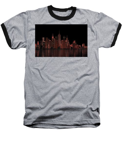 Chicago City Dusk Baseball T-Shirt