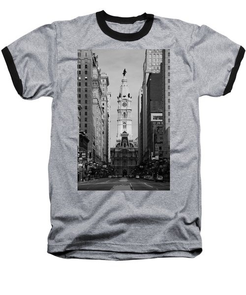 City Hall B/w Baseball T-Shirt
