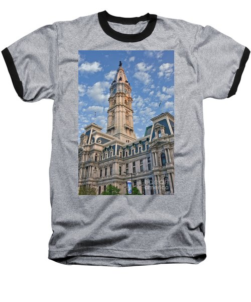 City Hall Clock Tower Downtown Phila Pa Baseball T-Shirt