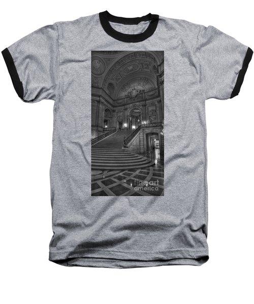 City Hall Grand Stairs Baseball T-Shirt