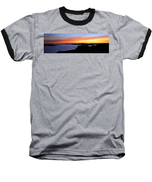 City Lights In The Sunset Baseball T-Shirt by Miroslava Jurcik