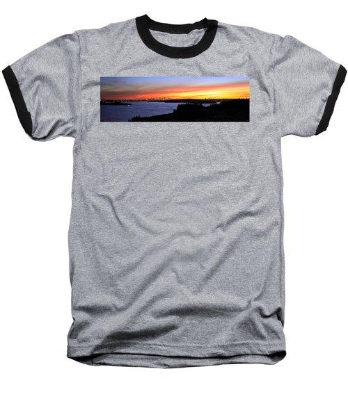 Baseball T-Shirt featuring the photograph City Lights In The Sunset by Miroslava Jurcik
