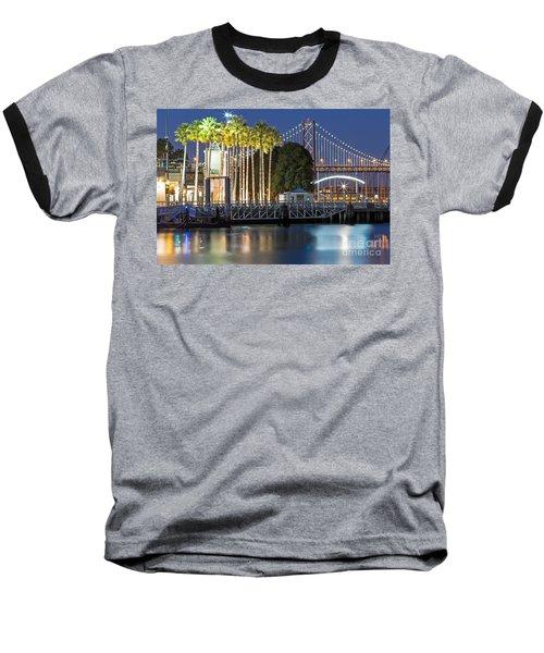 City Lights On Mission Bay Baseball T-Shirt