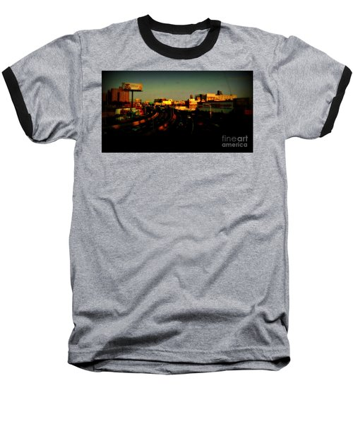City Of Gold - New York City Sunset With Water Towers Baseball T-Shirt by Miriam Danar