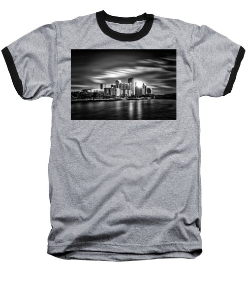 City Of Reflection In Monochrome Hdr Baseball T-Shirt
