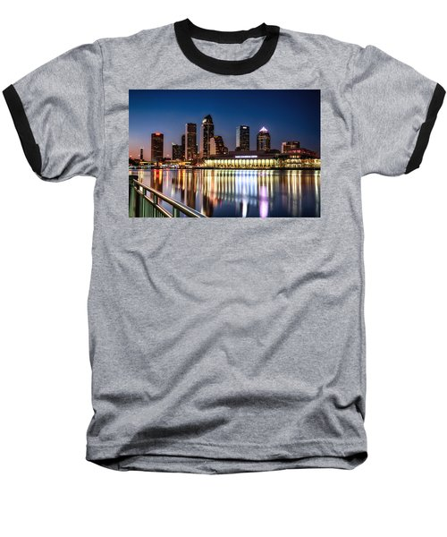 City Of Tampa Skyline  Baseball T-Shirt