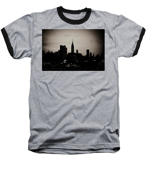 City Silhouette Baseball T-Shirt by Sara Frank