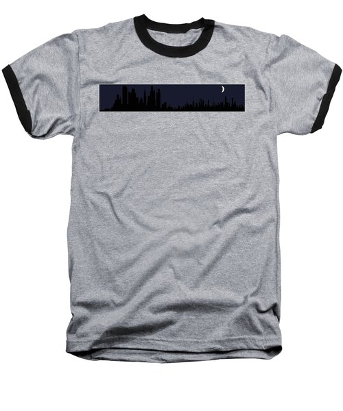 Baseball T-Shirt featuring the digital art City Skyline... by Tim Fillingim