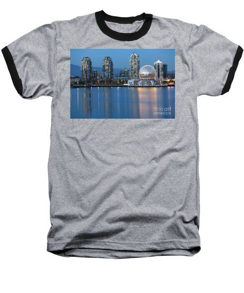 City Skyline -vancouver B.c. Baseball T-Shirt
