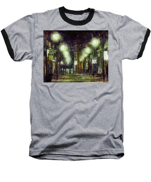 Baseball T-Shirt featuring the drawing City Street by Joe Misrasi