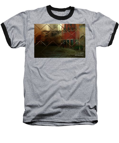 Baseball T-Shirt featuring the digital art City Street by Liane Wright