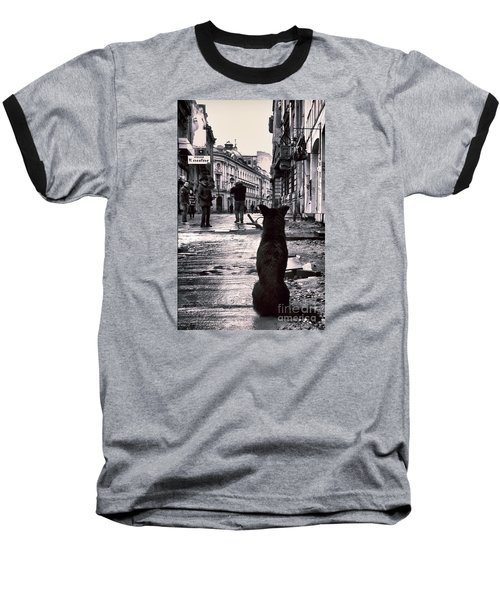 City Streets And The Theory Of Waiting Baseball T-Shirt