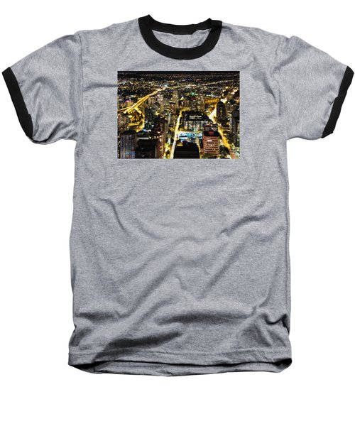Baseball T-Shirt featuring the photograph Cityscape Golden Burrard Bridge Mdlxiv by Amyn Nasser