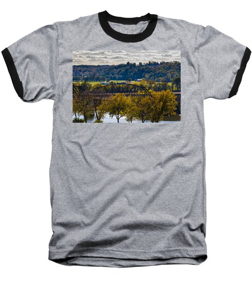 Clarksville Railroad Bridge Baseball T-Shirt