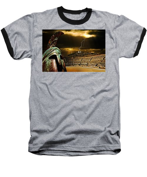 Baseball T-Shirt featuring the photograph Clash Of The Titans by Meirion Matthias