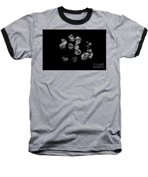 Classic Black Roses Baseball T-Shirt