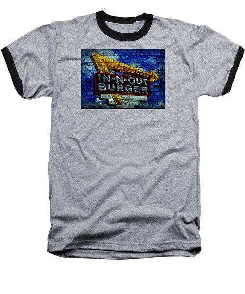 Classic Cali Burger 2.4 Baseball T-Shirt by Stephen Stookey