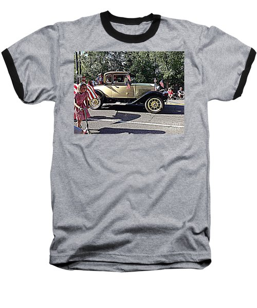 Baseball T-Shirt featuring the photograph Classic Children's Parade Classic Car East Millcreek Utah 1 by Richard W Linford