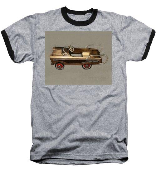 Classic Ranch Wagon Pedal Car Baseball T-Shirt