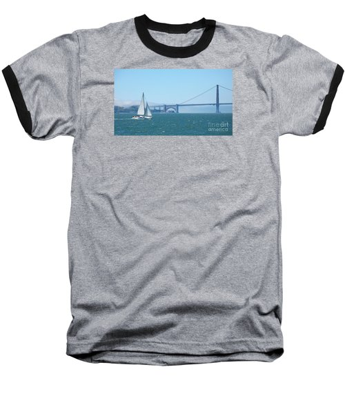 Classic San Francisco Bay Baseball T-Shirt by Connie Fox