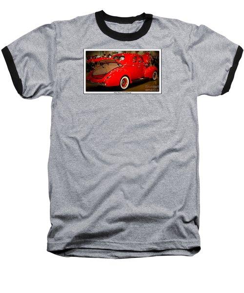 Classically Orange Baseball T-Shirt by Bobbee Rickard