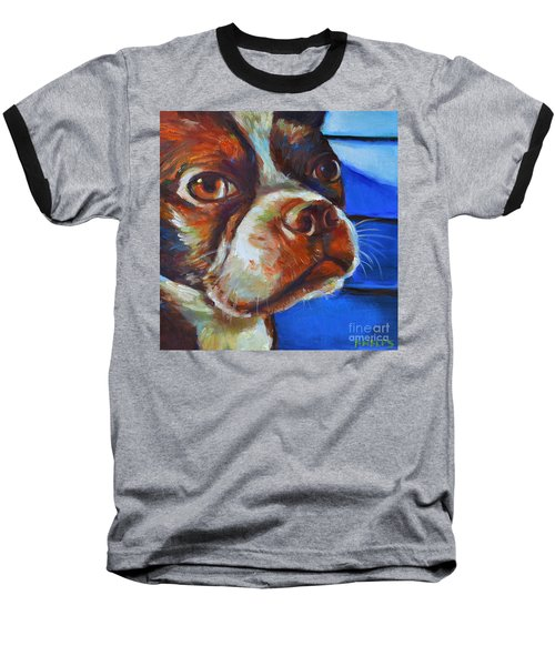 Classy Hank Baseball T-Shirt by Robert Phelps