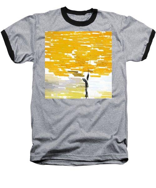 Classy Yellow Tree Baseball T-Shirt by Lourry Legarde